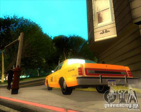Ford Custom 500 4 door taxi 1975 для GTA San Andreas вид сзади слева