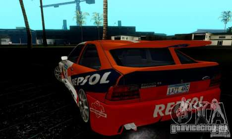 Ford Escort RS Cosworth для GTA San Andreas вид изнутри