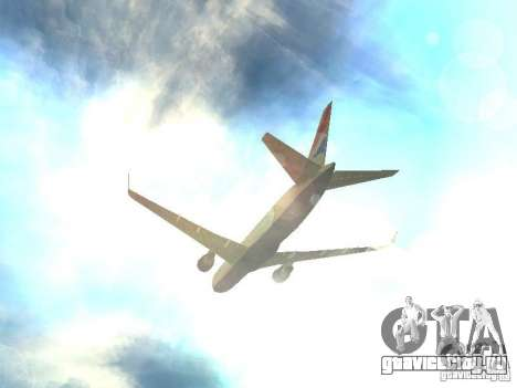 Boeing 767-300 British Airways для GTA San Andreas вид сверху