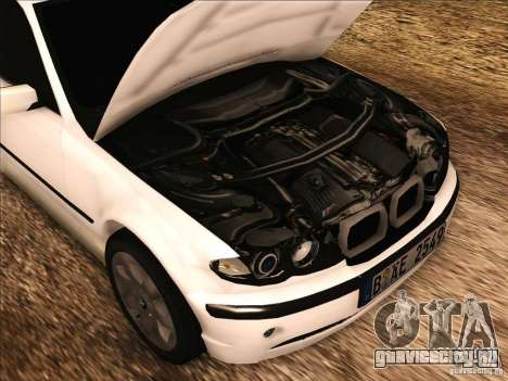 BMW M3 E46 Touring для GTA San Andreas вид изнутри