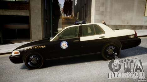 Ford Crown Victoria Fl Highway Patrol Units ELS для GTA 4 вид слева