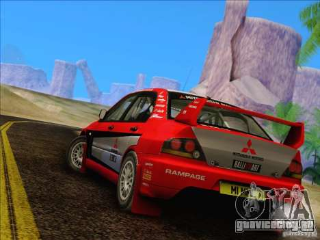 Mitsubishi Lancer Evolution IX Rally для GTA San Andreas вид справа