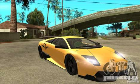 Lamborghini Murcielago LP 670 SV для GTA San Andreas вид сзади