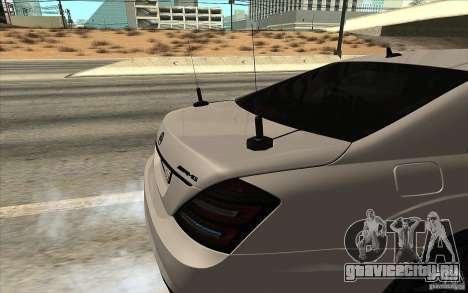 Mercedes-Benz S65 AMG с мигалками для GTA San Andreas вид слева