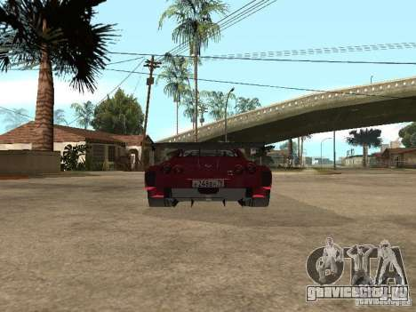 Nissan GT-R R35 для GTA San Andreas вид справа