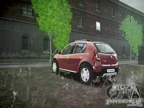 Dacia Sandero Stepway для GTA 4 вид сзади слева