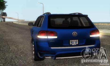 VolksWagen Touareg R50 JE Design Tuning для GTA San Andreas вид изнутри