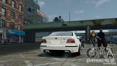 BMW M5 E39 BBC v1.0 для GTA 4 вид сзади