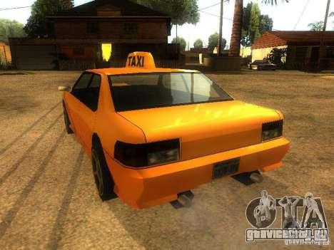 Taxi Sultan для GTA San Andreas вид сзади слева