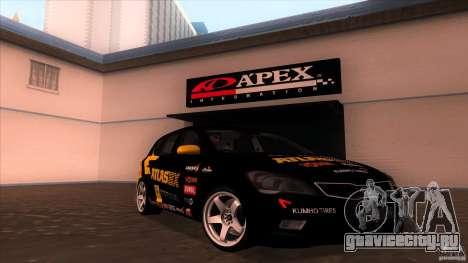 Kia Ceed 2011 для GTA San Andreas вид сзади