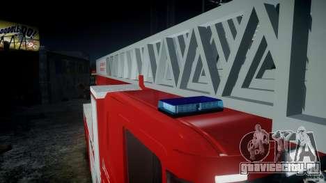Scania Fire Ladder v1.1 Emerglights blue-red ELS для GTA 4 вид слева