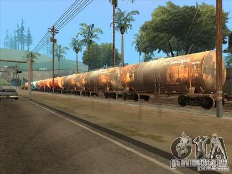 Товарные вагоны 2 для GTA San Andreas вид слева