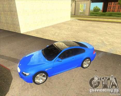 BMW M6 для GTA San Andreas вид слева
