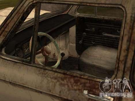 Запорожец из С.Т.А.Л.К.Е.Р. для GTA San Andreas вид сзади слева