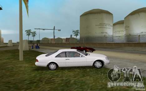 Mercedes-Benz 600SEC (C140) 1992 для GTA Vice City вид слева