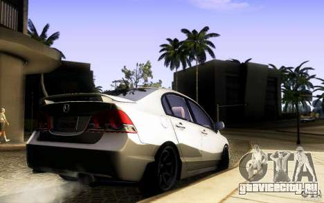 Honda Civic FD BlueKun для GTA San Andreas вид сзади