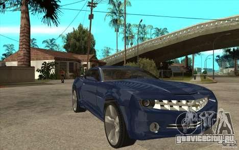 Chevrolet Camaro Concept Tunable для GTA San Andreas вид сзади
