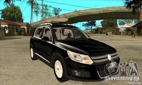 Volkswagen Tiguan 2.0 TDI 2012 для GTA San Andreas вид сверху