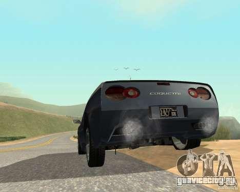 Сoquette из GTA 4 для GTA San Andreas вид сзади слева