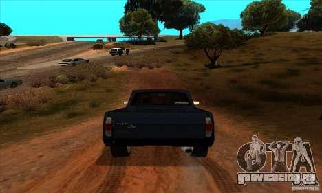 Ford Pampa Ghia 1.8 Turbo для GTA San Andreas вид сзади