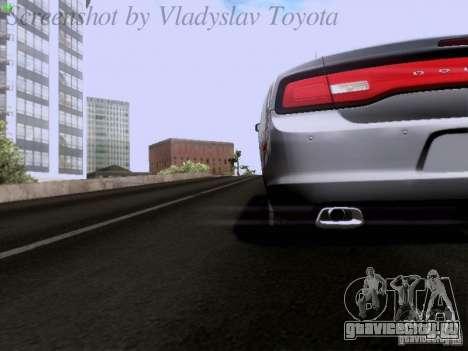 Dodge Charger 2013 для GTA San Andreas вид сверху