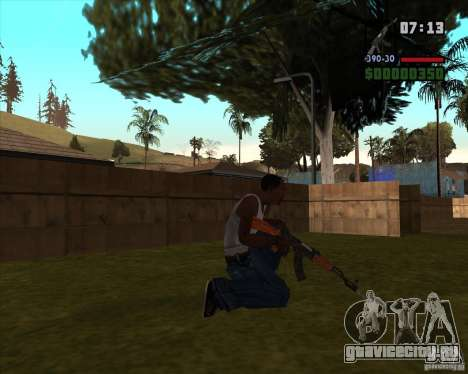 АК-47 со штыком для GTA San Andreas второй скриншот