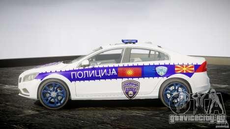 Volvo S60 Macedonian Police [ELS] для GTA 4 вид слева