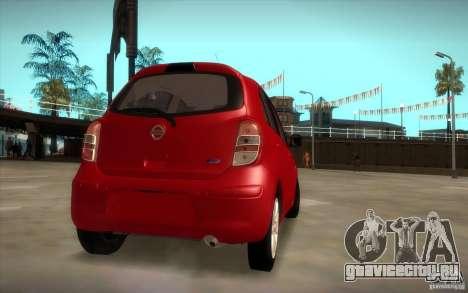 Nissan Micra 2011 для GTA San Andreas вид слева
