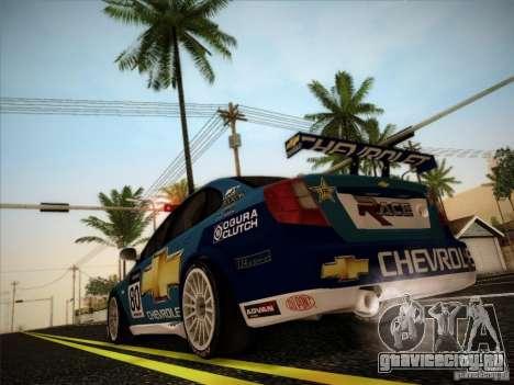 Chevrolet Lacetti WTCC v2 для GTA San Andreas вид сзади