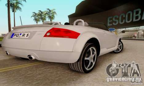 Audi TT Roadster для GTA San Andreas вид сзади слева