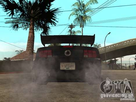 Ford Mustang GT Razor NFS MW для GTA San Andreas вид сзади слева