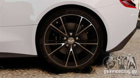 Aston Martin Vanquish 2013 для GTA 4 вид сверху