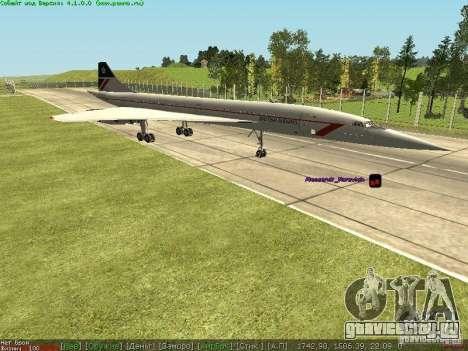 Concorde [FINAL VERSION] для GTA San Andreas