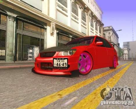 Toyota Altezza Drift Style v4.0 Final для GTA San Andreas вид сверху