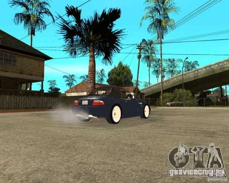 BMW Z3 Roadster для GTA San Andreas вид сзади слева