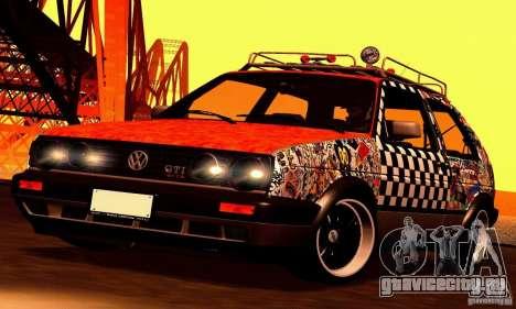 Volkswagen MK II GTI Rat Style Edition для GTA San Andreas вид сзади