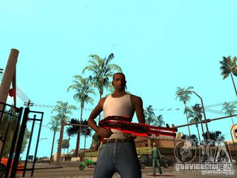 Red Chrome Weapon Pack для GTA San Andreas четвёртый скриншот