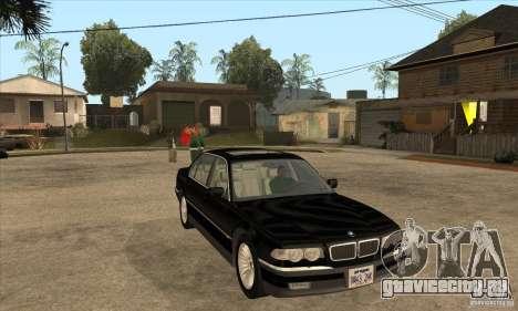 BMW E38 750IL для GTA San Andreas вид сзади