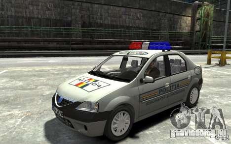 Dacia Logan Prestige Politie для GTA 4