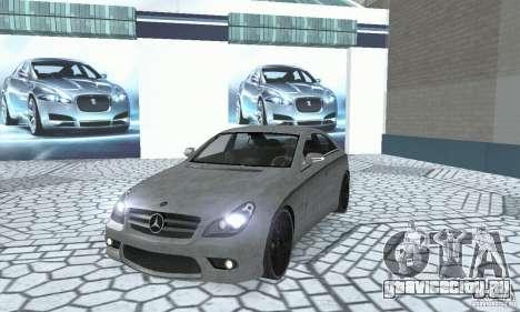 Mercedes-Benz CLS 63 AMG для GTA San Andreas вид изнутри