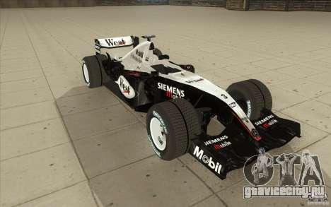 McLaren Mercedes MP 4-19 для GTA San Andreas вид сзади