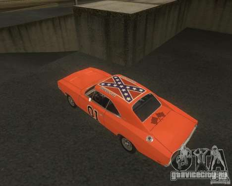 Dodge Charger для GTA San Andreas вид сзади