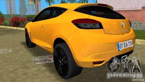 Renault Megane 3 Sport для GTA Vice City вид слева
