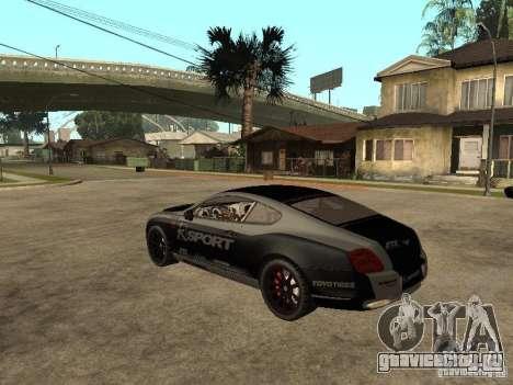 Bentley Continental SS Skin 4 для GTA San Andreas вид слева