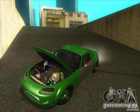Mazda Miata MX-5 Konguard 2007 для GTA San Andreas вид изнутри