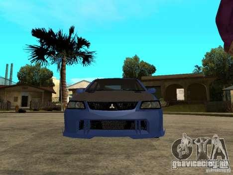 Mitsubishi Lancer EVO VIII Tuned для GTA San Andreas вид справа