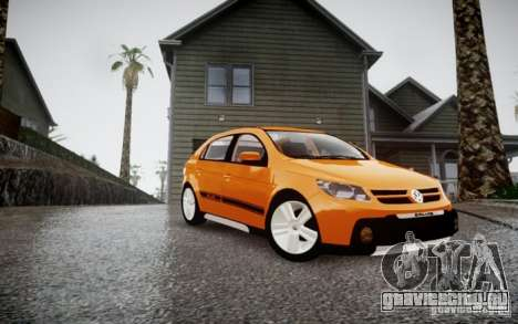 Volkswagen Gol Rallye 2012 для GTA 4 вид сзади слева