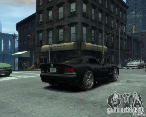 Dodge Viper srt-10 Coupe для GTA 4 вид сзади слева
