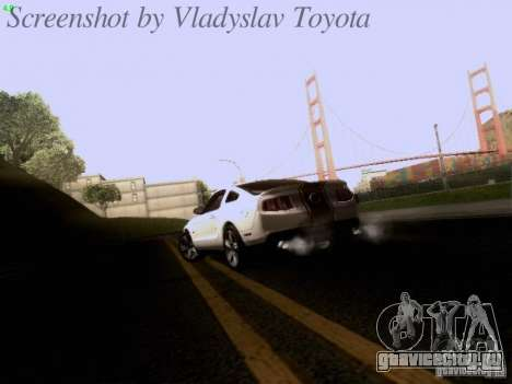 Ford Mustang GT 2011 для GTA San Andreas вид сверху