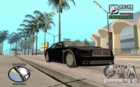 Dodge Charger SRT8 для GTA San Andreas вид сбоку